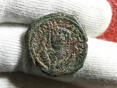 Arab Byzantine Empire Follis AE29 coin to identify