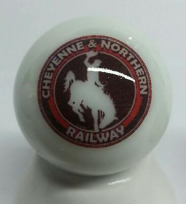 "Very Nice Cheyenne & Northern Railroad 1"" Glass Marble"