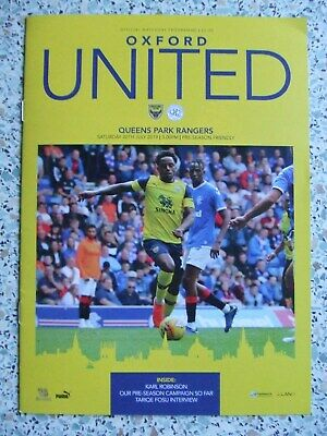 OXFORD UTD v QPR: JULY 2019 PRE-SEASON FRIENDLY PROGRAMME: SELL-OUT LOOK !!!