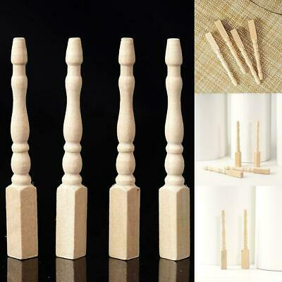 4PCS Cabriole table legs dollhouse miniature 1/12 scale wood O8S9