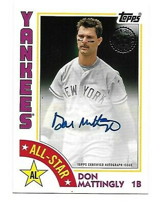 2019 Topps Series 2  1984!!  All-Star     Don Mattingly     Auto!!