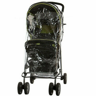 Universal Single Stroller Raincover Rain & Wind Cover for Buggy Pushchair New