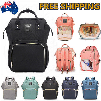 LUXURY Waterproof Large Mummy Diaper Nappy Bags Travel Changing Baby Backpack AU