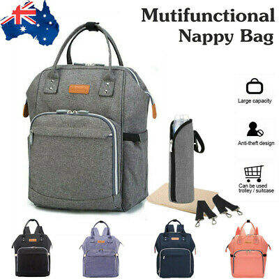 Multifunctional Nappy Luxury Backpack Diaper Baby Changing Bag Waterproof Mummy
