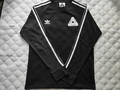 PALACE SKATEBOARDS X Adidas Originals Long Sleeve Tee Shirt in Black Medium