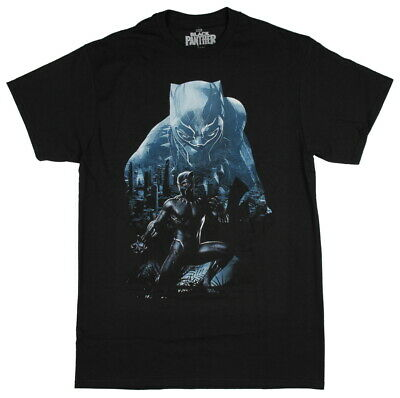 Officially Licensed Marvel Black Panther Graphic Logo Men's T-Shirt