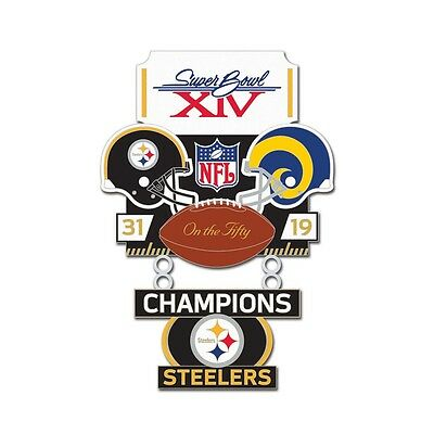 Pittsburgh Steelers Los Angeles Rams Super Bowl Xiv Champions On The Fifty Pin