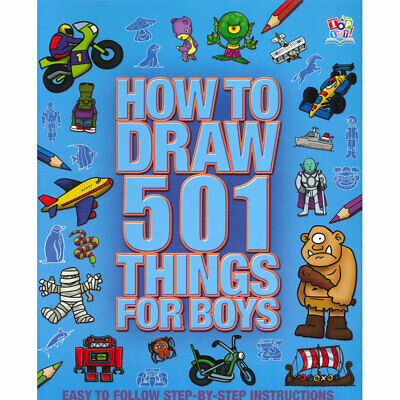 NEW How to Draw 501 Things for Boys Kids Drawing Art Guide Fun Book Great Gift!