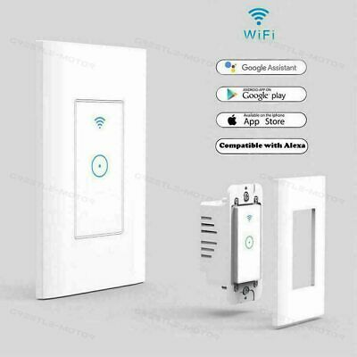 NEW Smart Wall Light Touch Panel Switch App Timing Socket Alexa Google Home