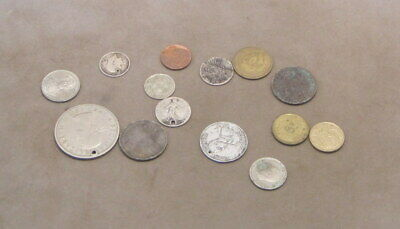 14 DAMAGED COINS as detailed