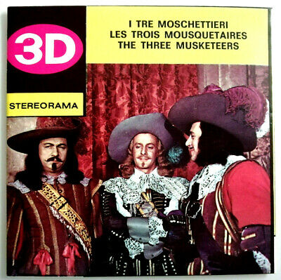3x STEREORAMA REEL / THE THREE MUSKETEERS / MOSCHETTIERI / MUSKETIERE / 3 / TRE