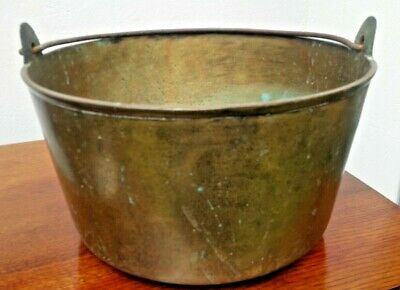 Large Bronze 19th Century Jam Pot with Iron Handle