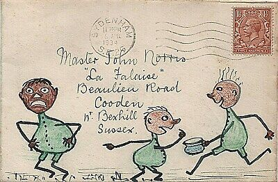 1934 illustrated envelope from Sydenham to Bexhill