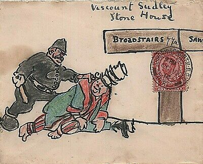 1912 illustrated envelope to Viscount Sudley at Broadstairs