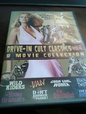 Drive-In Cult Classics Volume 4 Dvd 8 Movie Collection On Discs Used