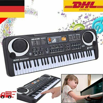 Digital 61 Tasten Keyboard E-Piano Klavier 16 Sounds & Rhythmen Lernfunktion