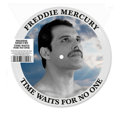 """FREDDIE MERCURY - TIME WAITS FOR NO ONE 7"""" VINYL PICTURE DISC queen rare new lp"""