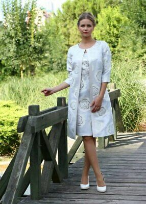 Lizabella Mother of the Bride/Groom Dress (UK14) with matching Coat and Hat