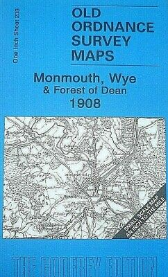 Old Ordnance Survey Maps Monmouth Wye & Forest of Dean 1908  Map Lower Lydbrook