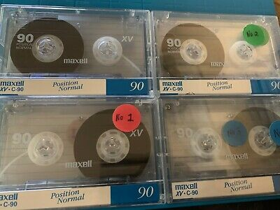 4 Used Audio Cassettes Selling as Blanks LOT 4 - MAXELL XV C90