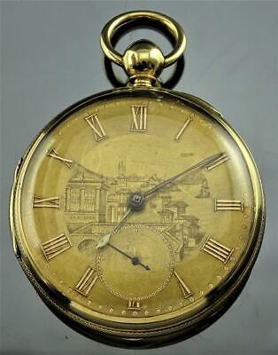 RARE JOSEPH SEWILL LIVERPOOL 18K SOLID GOLD 18s FUSEE POCKET WATCH DATED 1855 NR