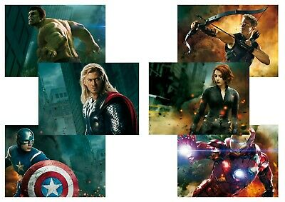 Avengers Assemble: Captain America, Thor  A5 A4 A3 Textless Movie DVD Posters