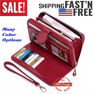 2caa7988a530 WOMEN'S WALLET LONG Bifold Card Organizer Cover Case Wallet with ...