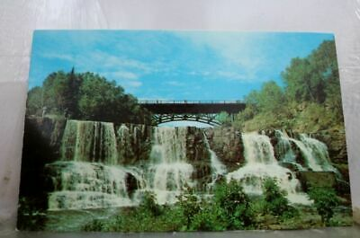 Minnesota MN Gooseberry State Park Lower Falls Postcard Old Vintage Card View PC