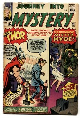 Journey Into Mystery #99-Silver Age Marvel--Thor--Mister Hyde- Vg/Fn
