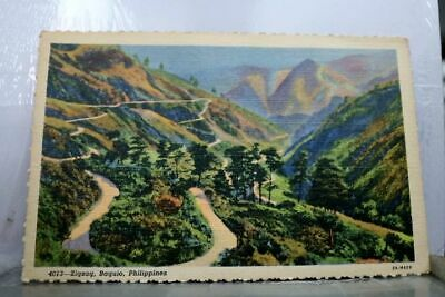 Philippines Zigzag Baguio Postcard Old Vintage Card View Standard Souvenir Post