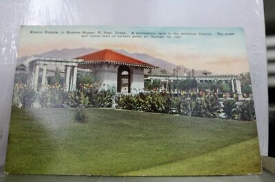 Texas TX Mission Pergola El Paso Postcard Old Vintage Card View Standard Post PC