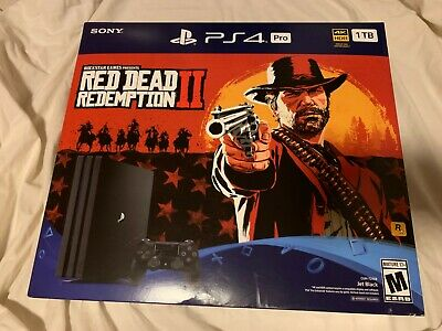 Sony PS4 Pro 1TB Black PlayStation 4 Console - Read Red Redemption Bundle. Mint!