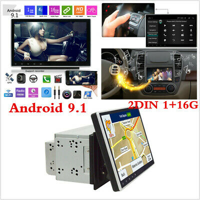 """Double 2Din Android 9.1 10.1"""" HD Car Stereo Radio MP5 Player GPS Navi WiFi 3G/4G"""