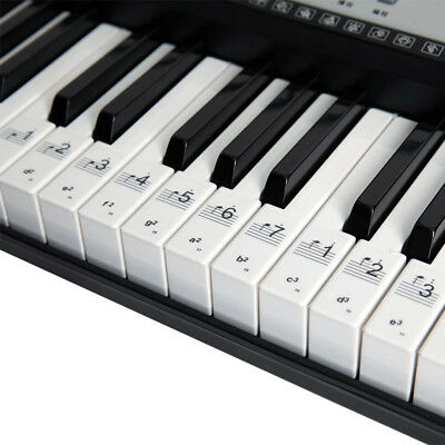 KEYNOTES PIANO STICKERS - 52 Music KEYBOARD NOTE Labels
