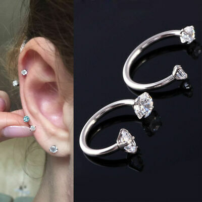 Fashion Crystal Rings Nose Lip Eyebrow Nipple Ear Belly Ring Piercing Jewelry