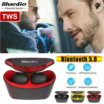Bluedio T-elf Air pod Bluetooth 5.0 Sport Wireless Earphones with charging box *