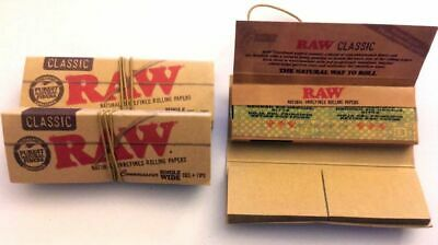 Raw Classic Connoisseur Single Wide [6 BOOKLET PACK] Rolling Papers with Tips