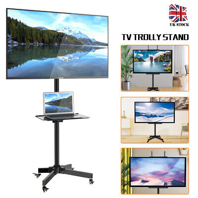 "Home Mobile TV Stand Floor Trolley Display Cart Mount For 23""-55"" Plasma/LCD/LED"