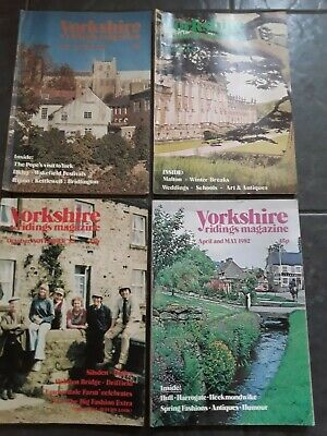 Yorkshire Ridings Magazines x 4 - dated 1982 / Vintage vgc