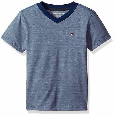 Tommy Hilfiger Boys' Short Sleeve V-Neck Striped Tee