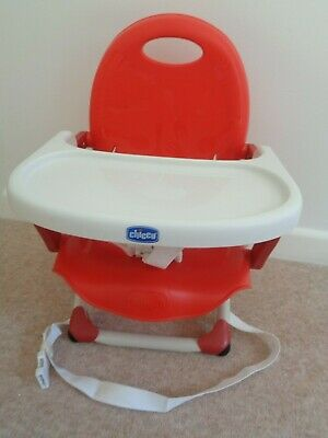 Chicco  Portable Travel Table Booster Seat Chair Red