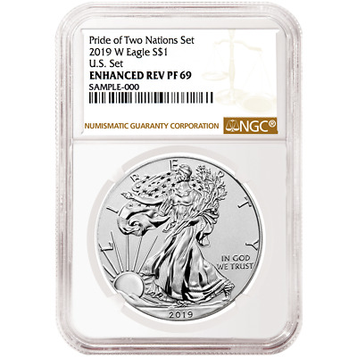 2019-W Reverse Proof $1 American Silver Eagle NGC PF69 Brown Label Pride of Two
