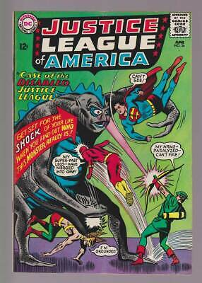 Justice League of America # 36  The Disabled JLA ! grade 6.0 scarce book !