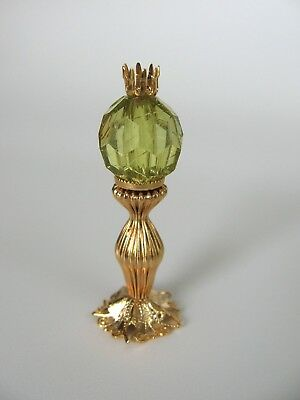 dollhouse doll house miniature ELECTRIC VICTORIAN TABLE LAMP OLIVE GREEN VIVIAN