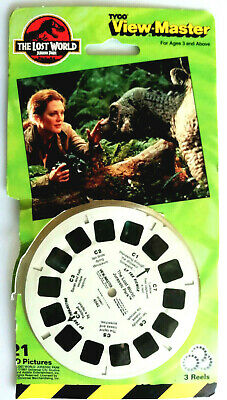 3x VIEW MASTER REEL / JURASSIC PARK / THE LOST WORLD / 3D SCHEIBEN PACK TYCO