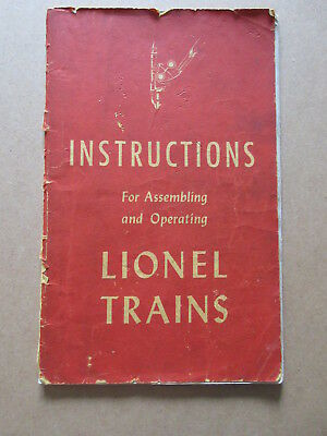 1947 Instructions For Assembling And Operating Lionel Trains Book  Original
