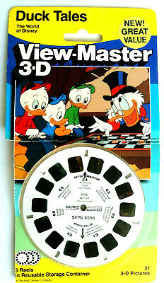 3x VIEW MASTER REEL / DUCK TALES / THE WORLD of DISNEY / DONALD / DAGOBERT / 3D