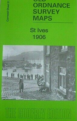 Old Ordnance Survey Detailed Maps St Ives Cornwall 1906  Godfrey Edition Offer