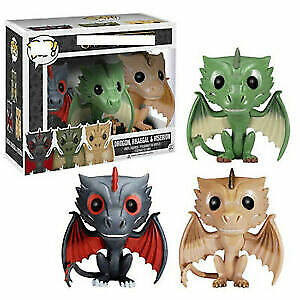 Hot Funko Pop Game of Thrones Exclusive Dragons 3 PACK Drogon Rhaegal & Viserion