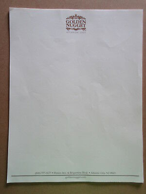 lot of Atlantic City GOLDEN NUGGET HOTEL & CASINO STATIONARY - 9 SHEETS